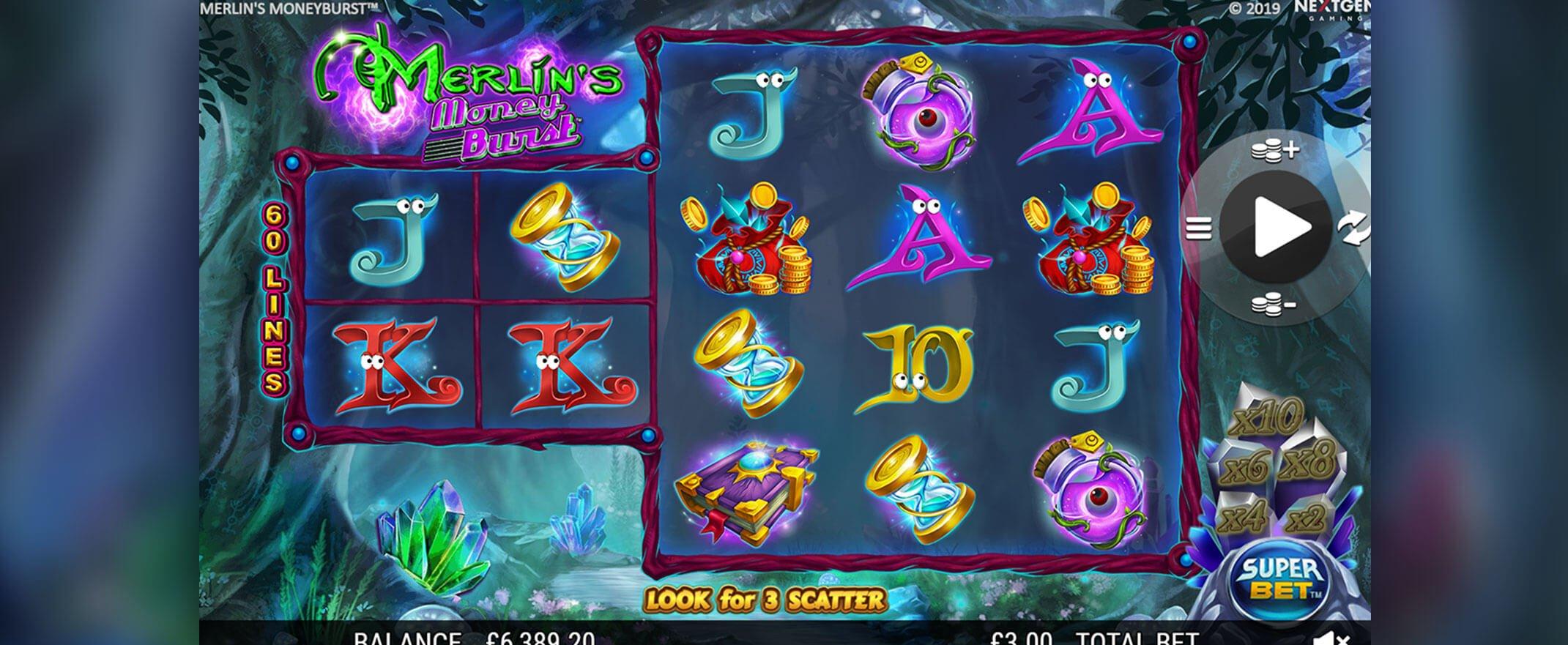 Merlins Money Burst Online Slot Features