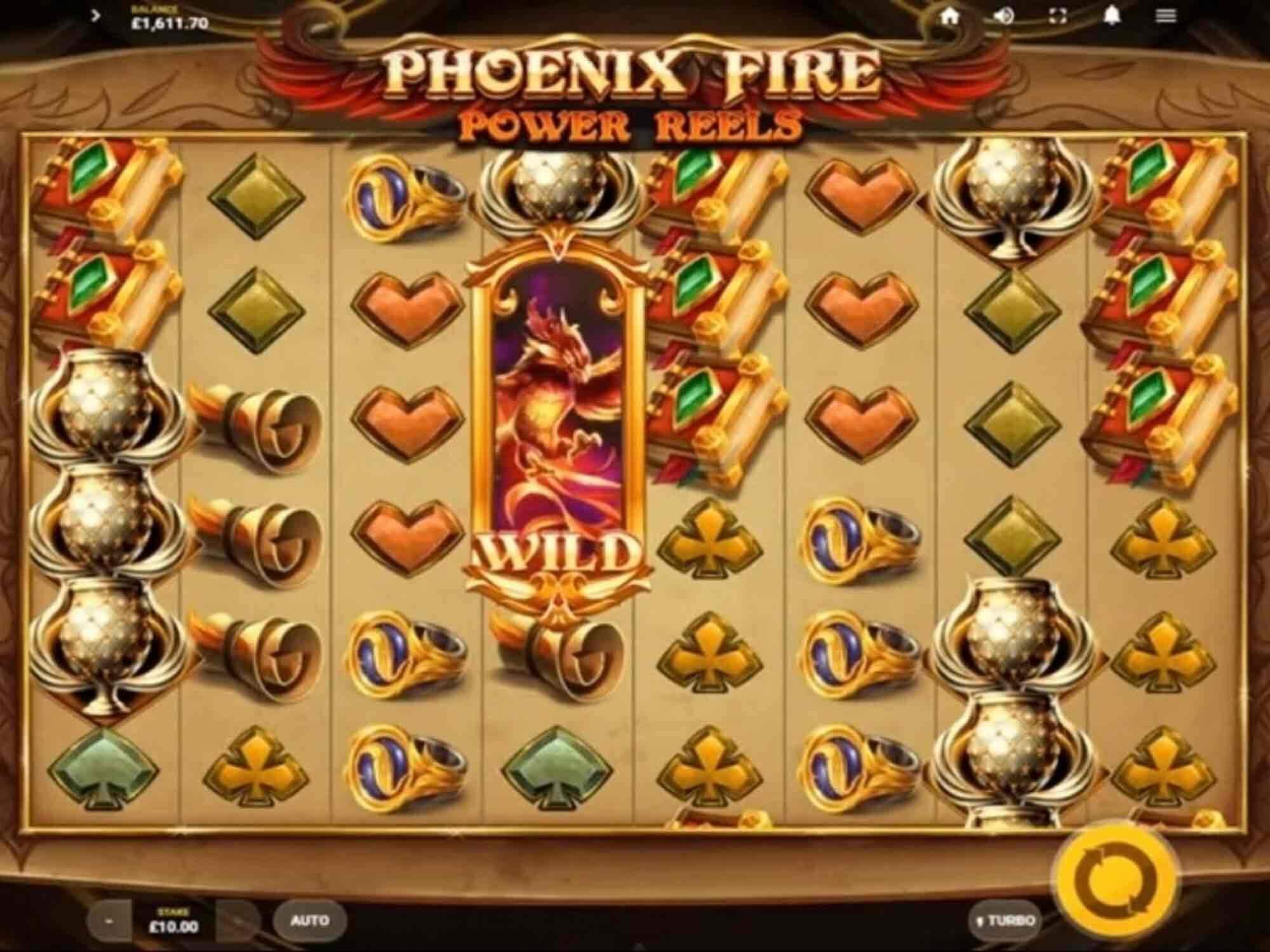 Phoenix Fire Power Reels Slot Gameplay