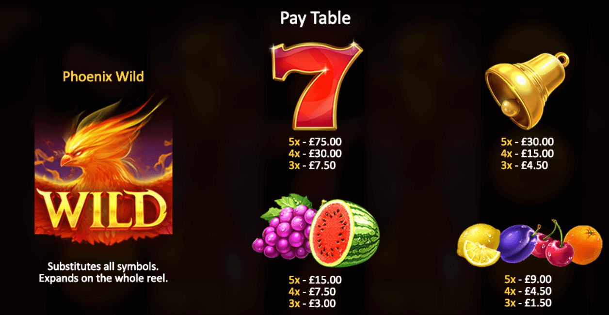 Phoenix Fire Slot Bonus