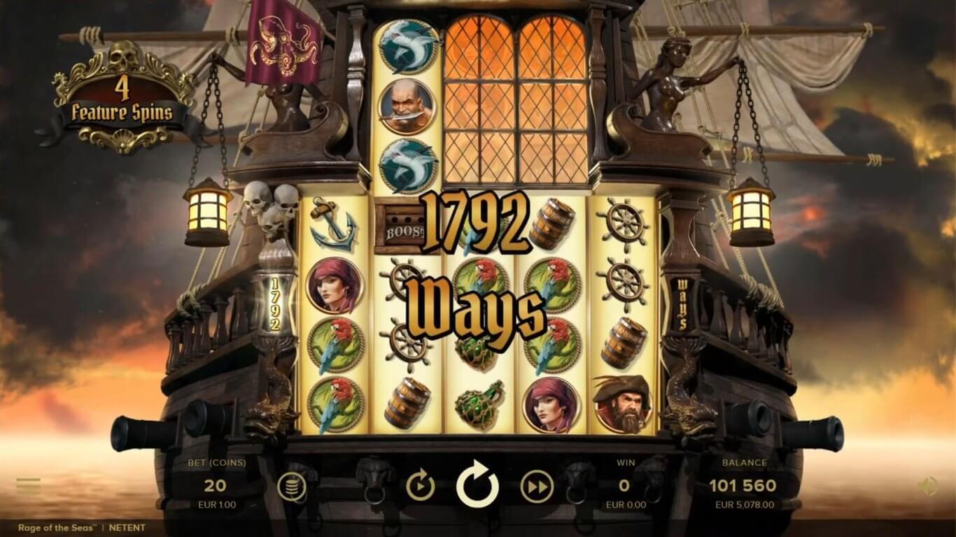 Rage of the Seas Slot Gameplay