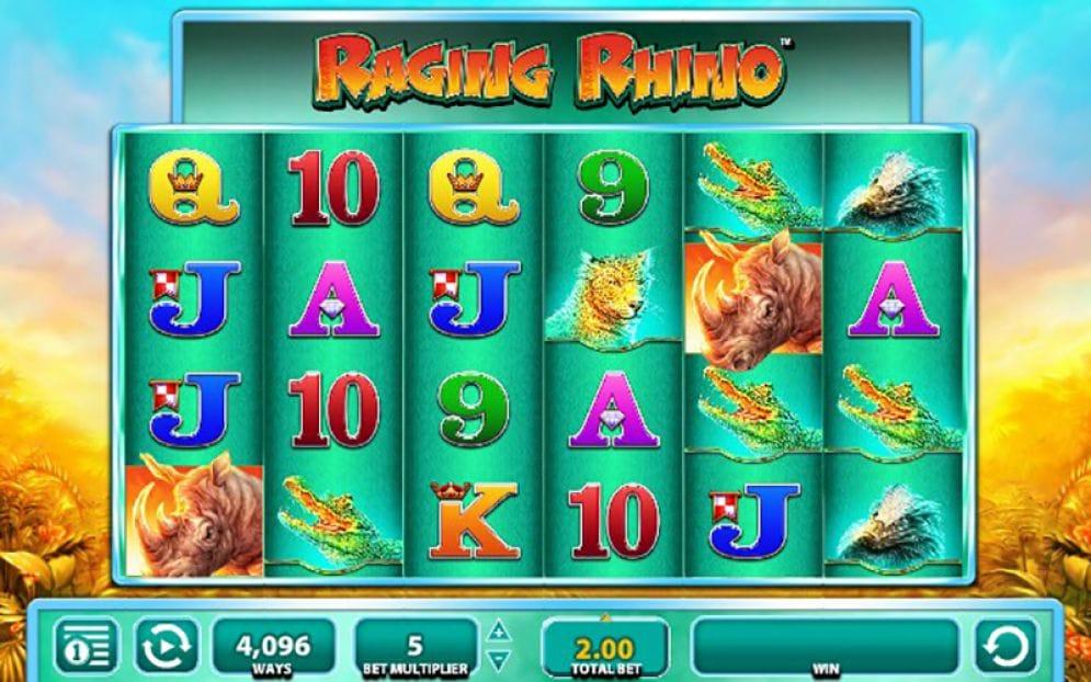 Raging Rhino Casino Gameplay