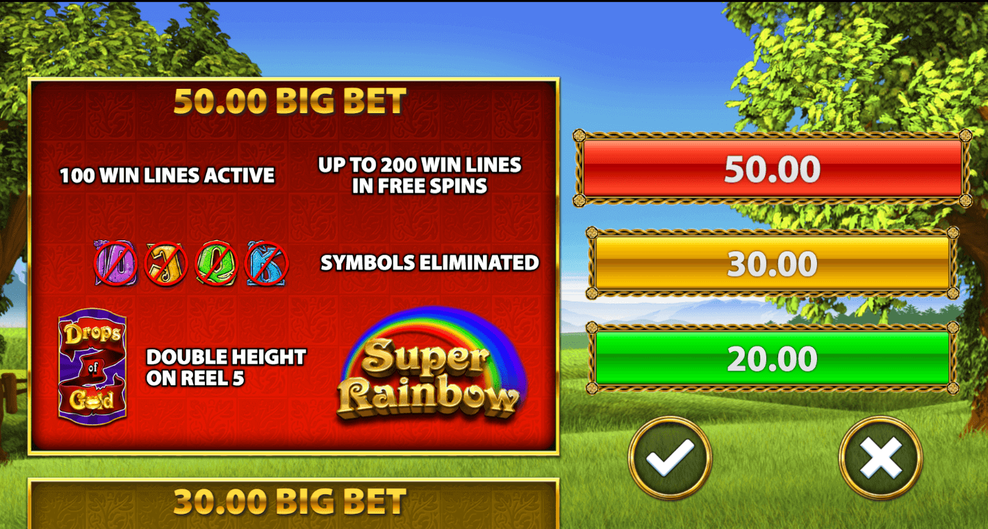 Rainbow Riches Drops of Gold Bonus