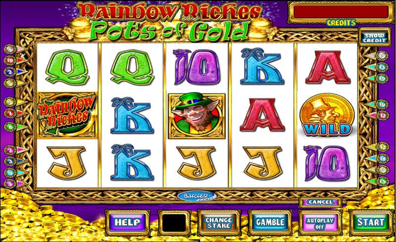 Rainbow Riches Pots of Gold Slot Gameplay