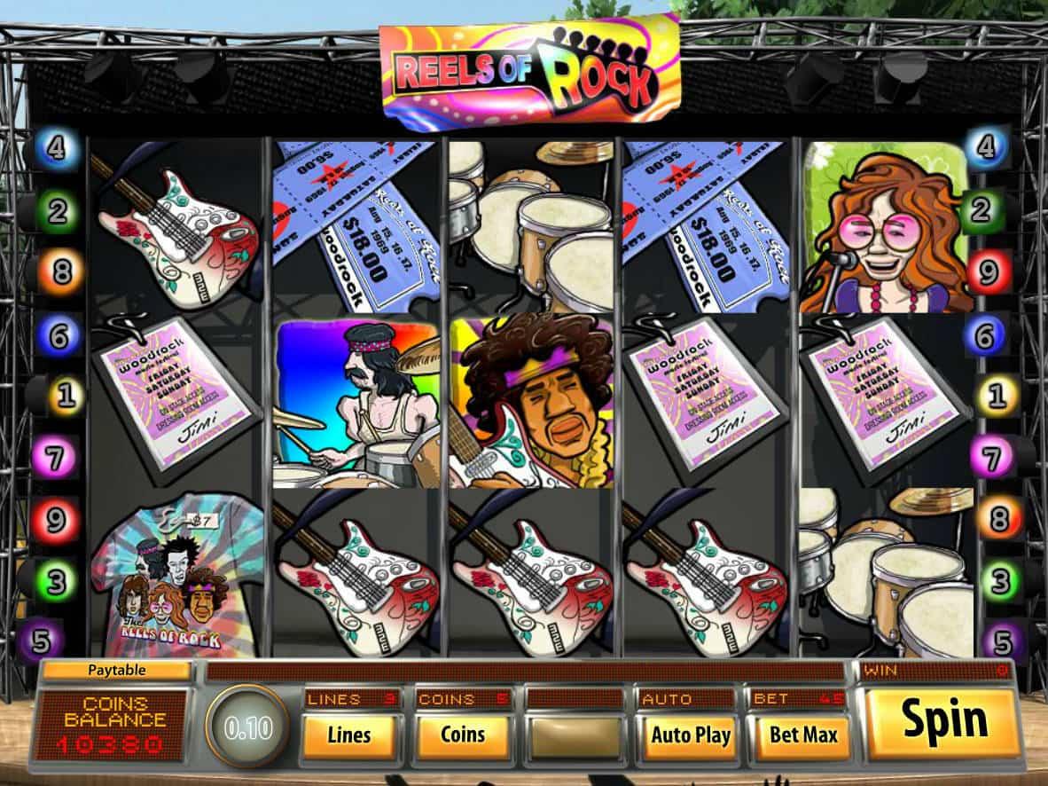 Reels of Rock Slot Bonus