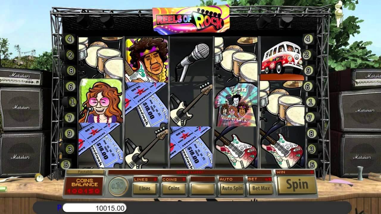 Reels of Rock Slot Gameplay