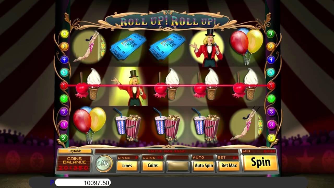 Roll Up Roll Up Slot Bonus