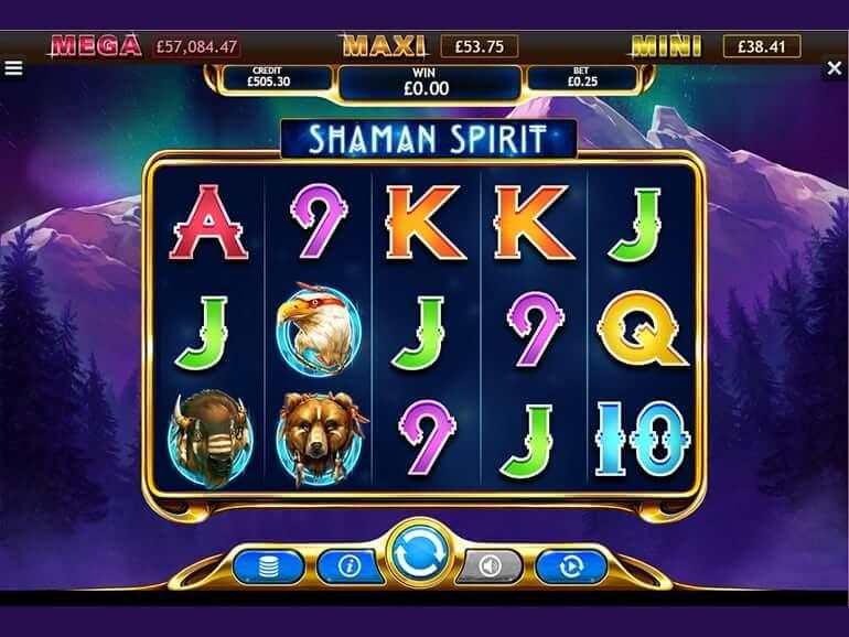 Shaman Spirit Jackpot Slot Bonus