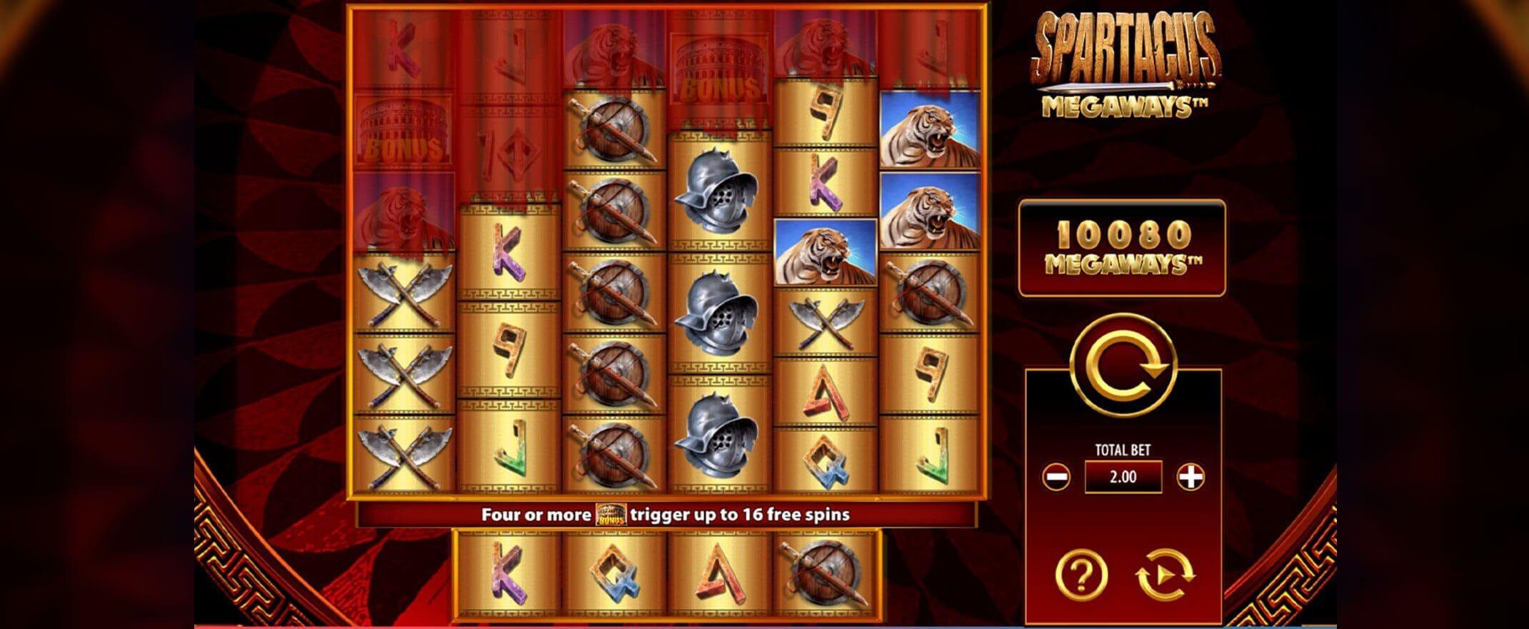 Spartacus Megaways Slot Bonus