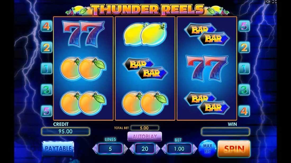 Thunder Reels Online Slot Logo