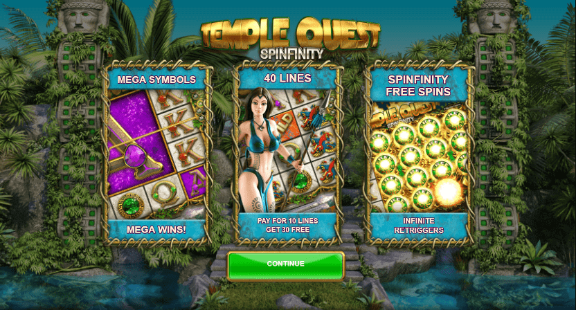 Temple Quest Spinfinity Bonus