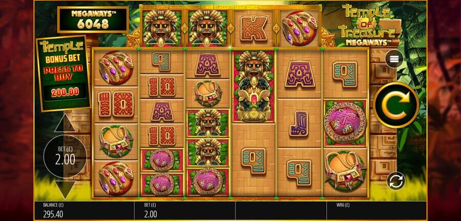 Temple of Treasure Megaways Slot Bonus
