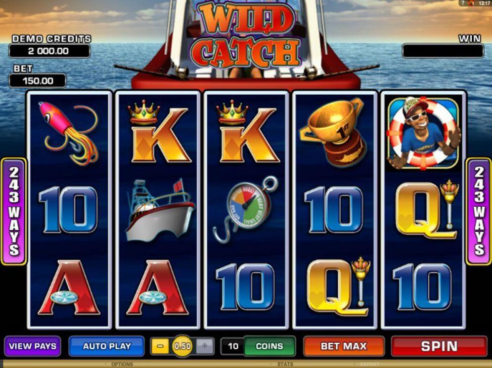 Wild Catch Slot Gameplay