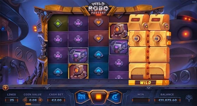Wild Robo Factory Online Casino Slot