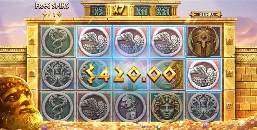 Ancient Fortunes: Zeus Slot Big Win