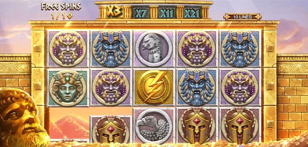 Ancient Fortunes: Zeus Slot Gameplay