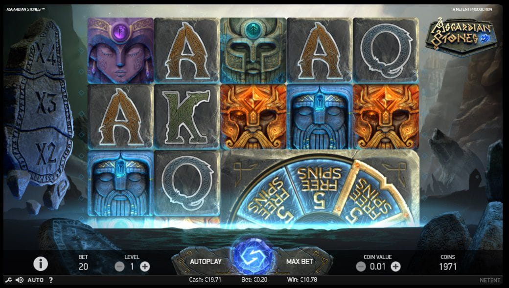 Asgardian Stones slot gameplay