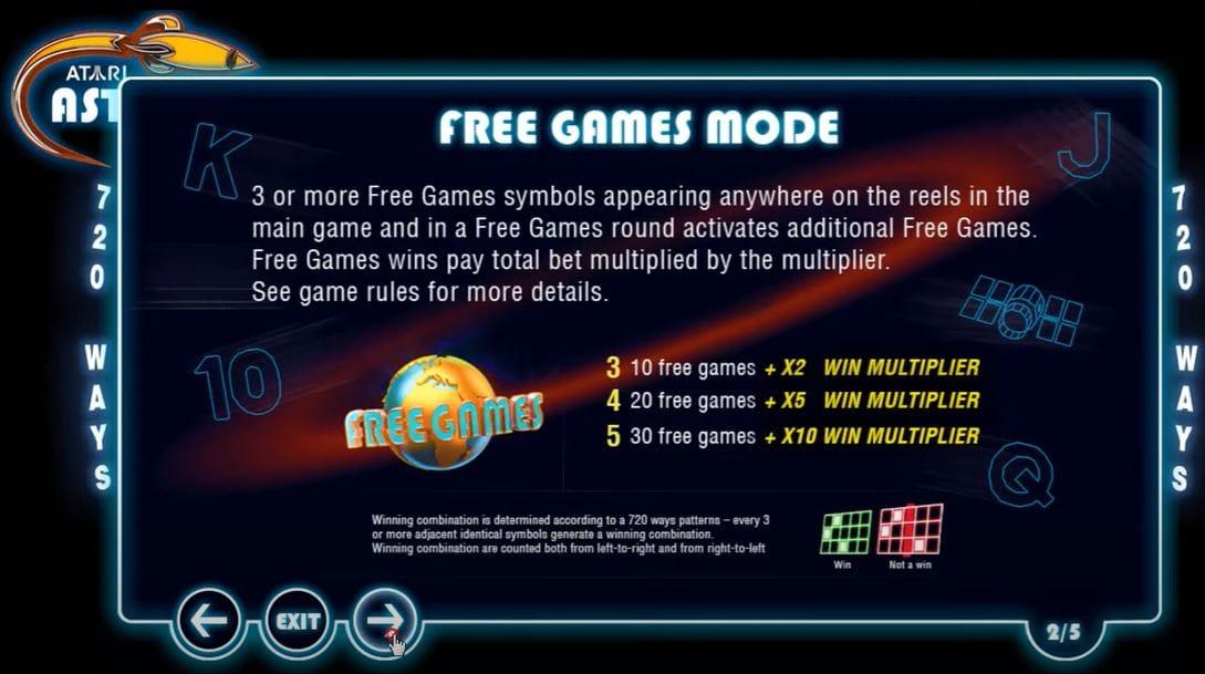 Asteroids Slot Free Games