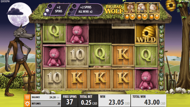 Big Bad Wolf gameplay slots