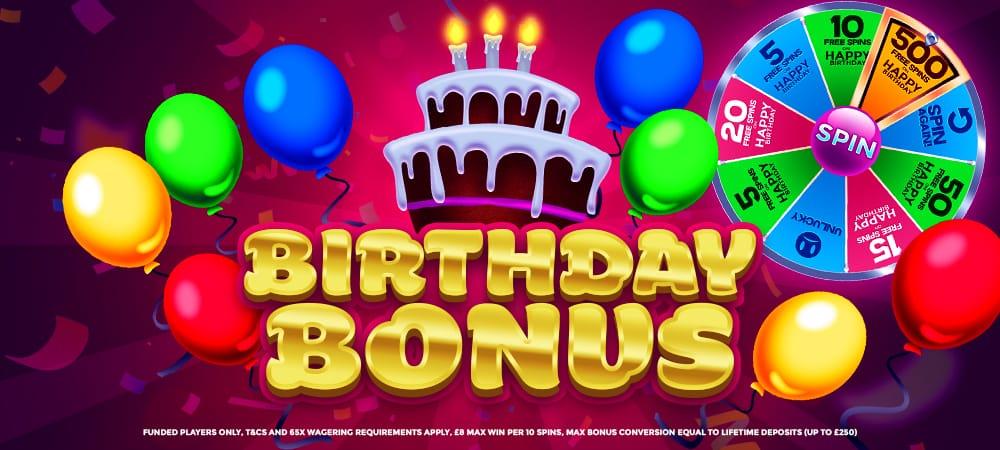 Daisyslots - Birthdaybonus