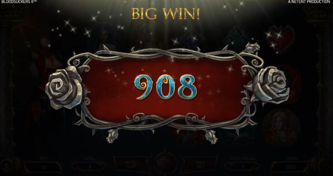 Blood Suckers II Slot Big Win