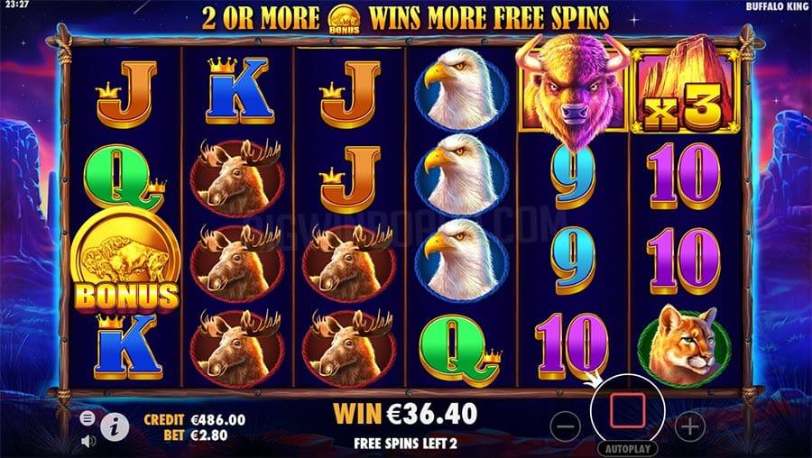 Buffalo King Free Slots Reels