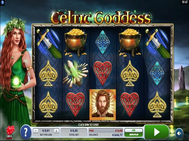 Celtic Goddess gameplay slot game