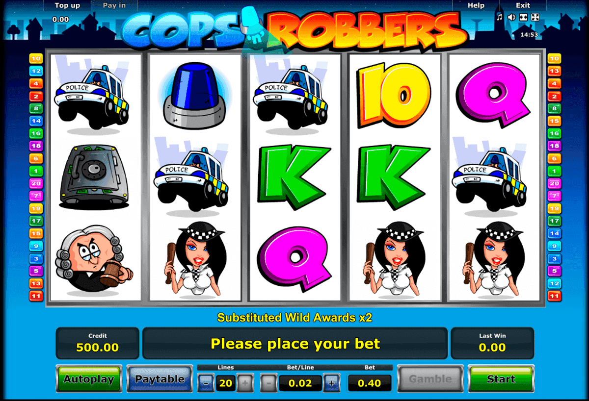 Cops and Robbers Slots Gameplay