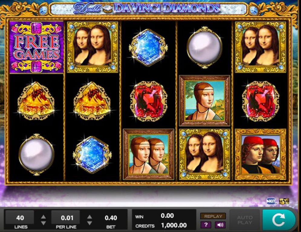 Double Da Vinci Diamonds Slot Gameplay
