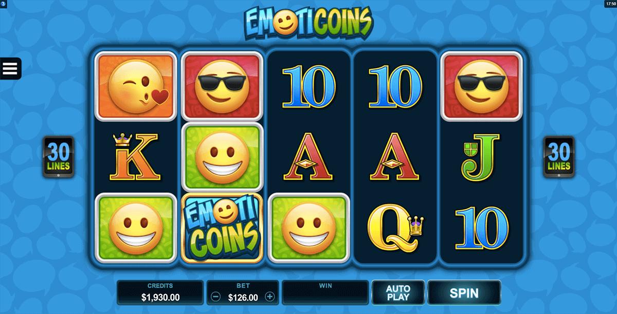 Emoticoins slot logo