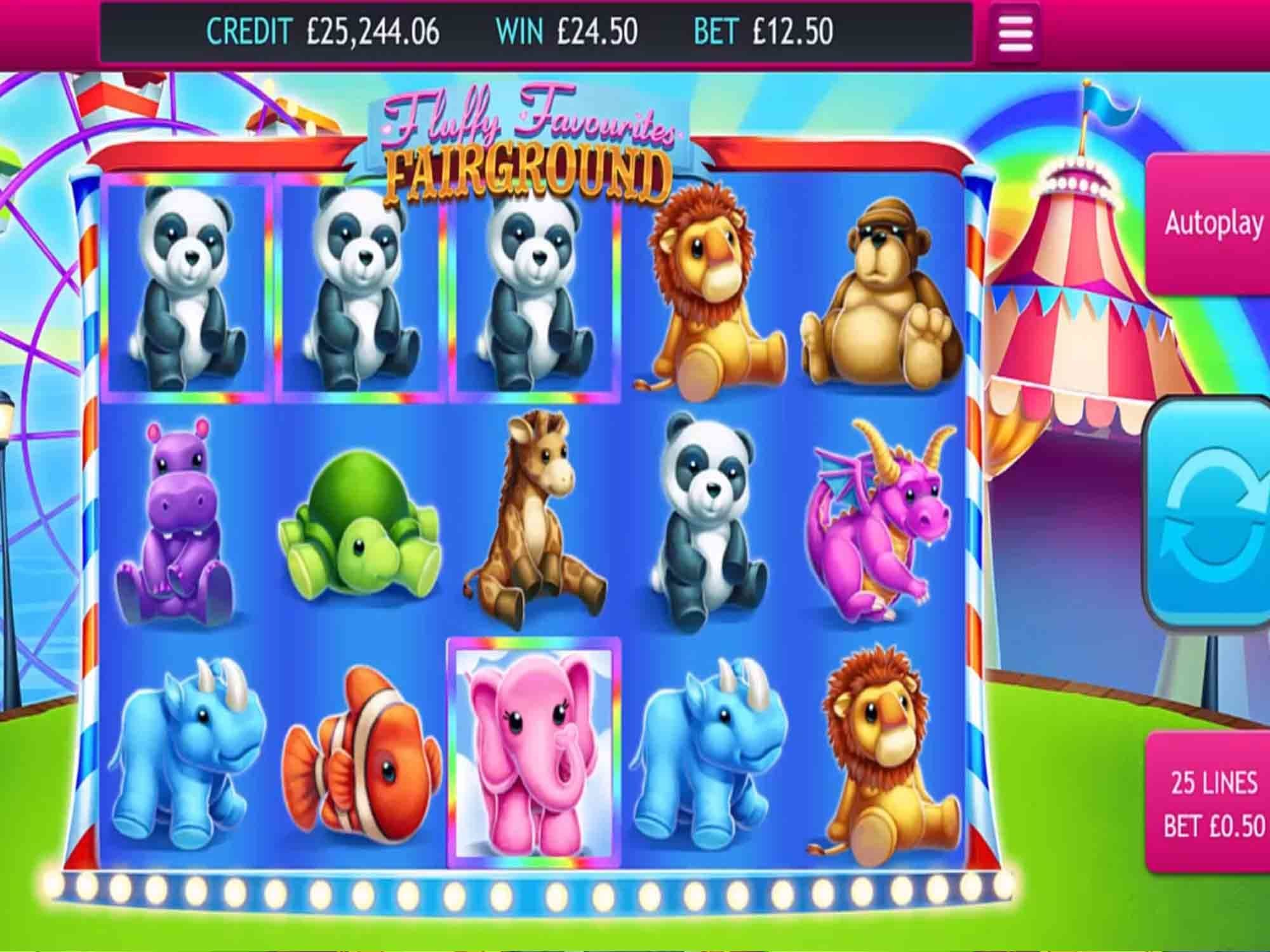 fluffy favourites fairground gameplay casino