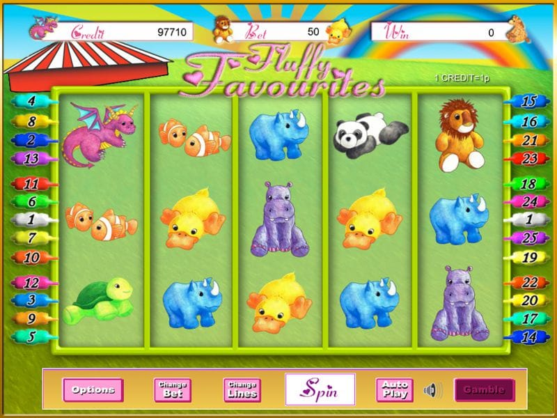 Fluffy Favourites video Slot Gameplay