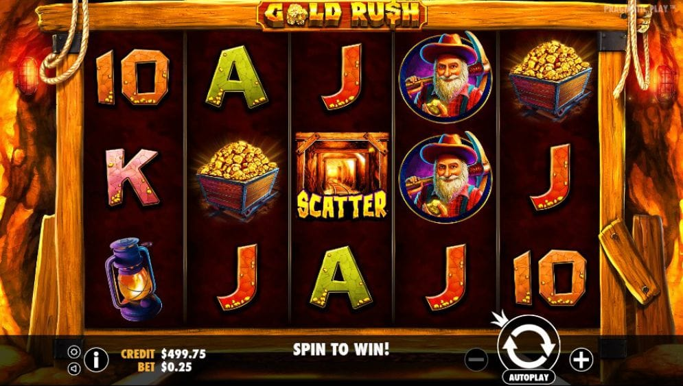 Gold Rush! Slot Gameplay