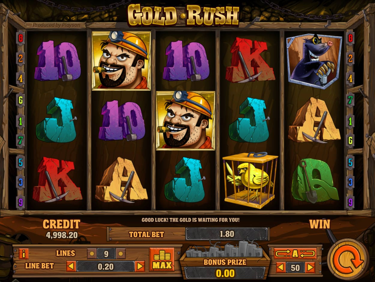 Gold Rush Online Slot Game
