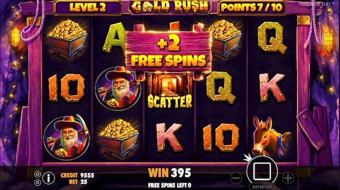 Gold Rush! Slot Gameplay Free Spins