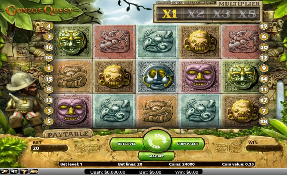 Gonzo's Quest gameplay casino