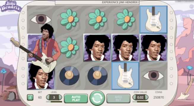 Jimi Hendrix Online Slot Gameplay Image