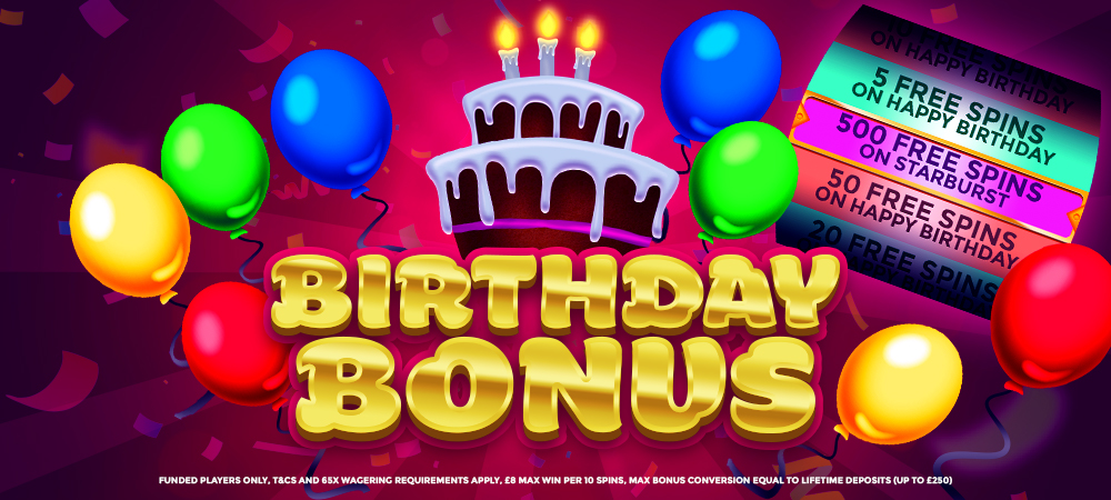 BirthdayBonus - DaisySlots Offer
