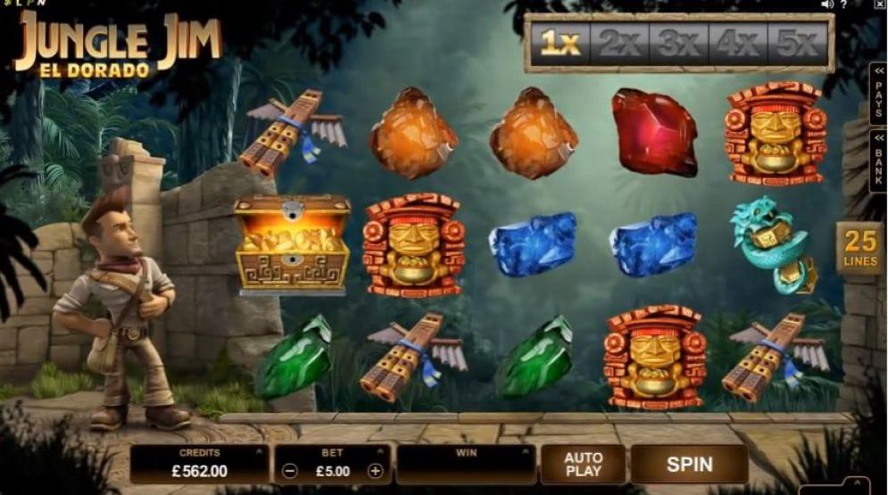 Jungle Jim - El Dorado gameplay casino