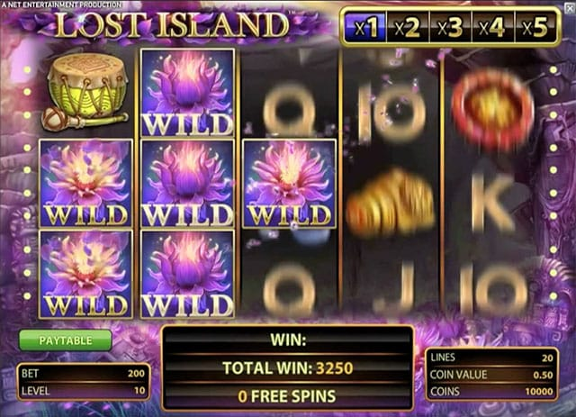 lost island slot gameplay