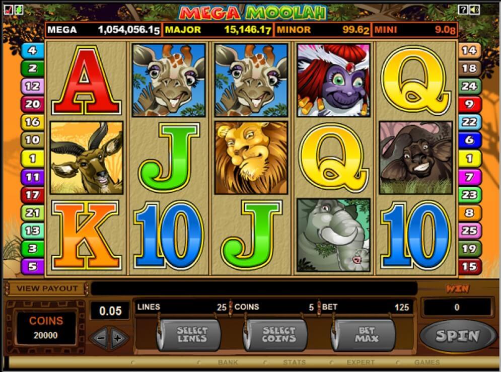 Mega Moolah gameplay slot