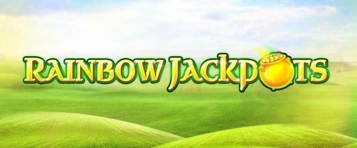 Rainbow Jackpots slot game banner
