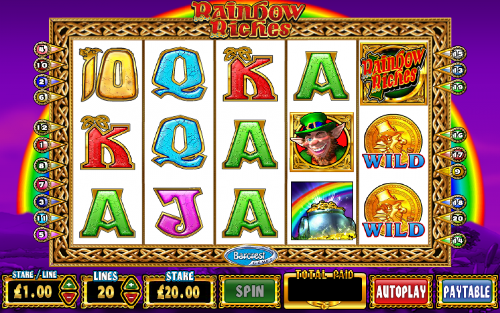 Rainbow Riches gameplay casino