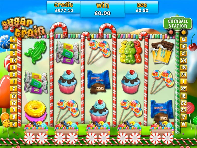 Sugar Trains slots gameplay