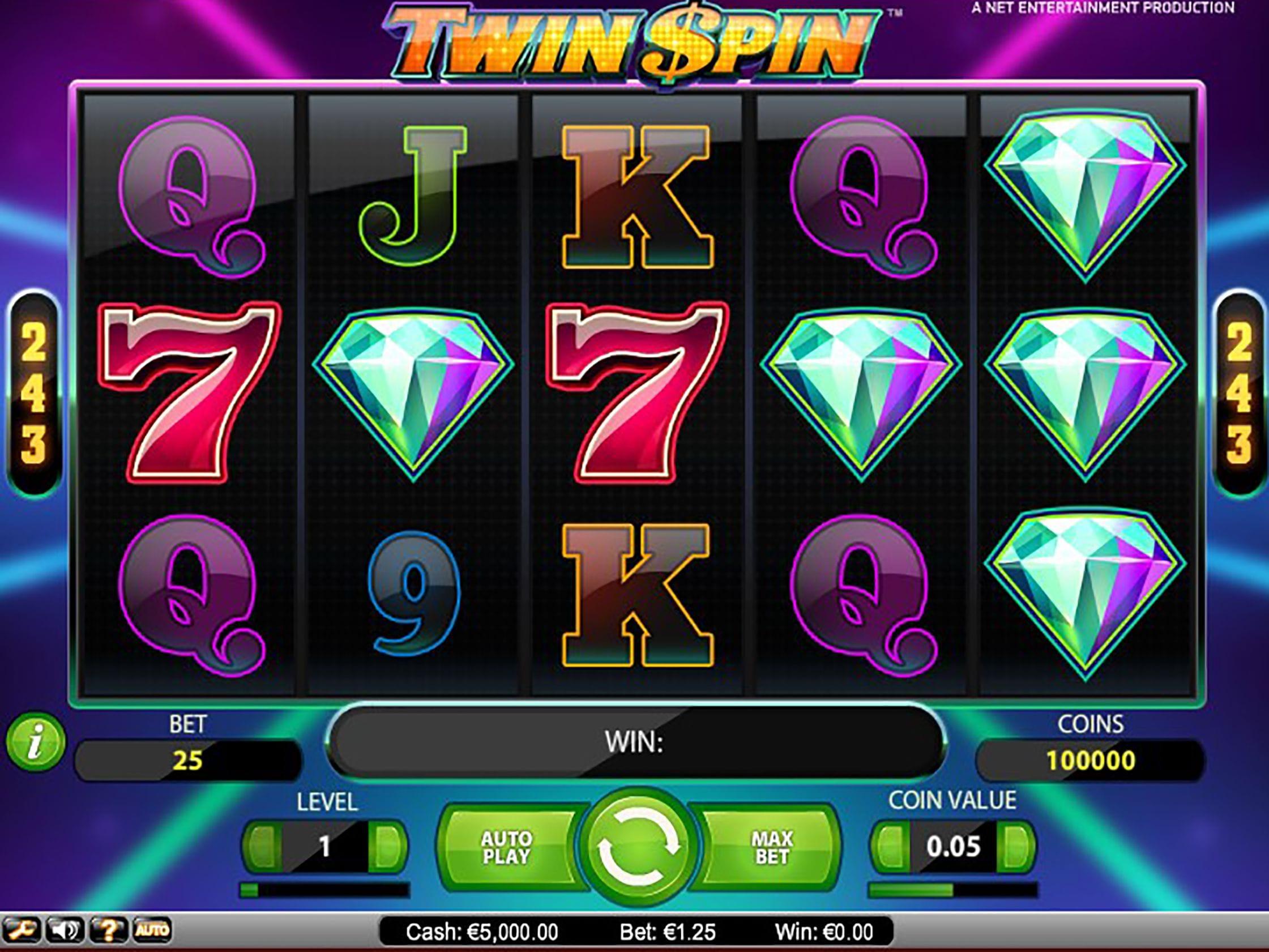 twin spin casino gameplay