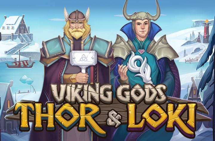Viking Gods: Thor and Loki slot logo