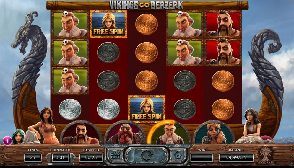 Vikings Go Berzerk gameplay casino