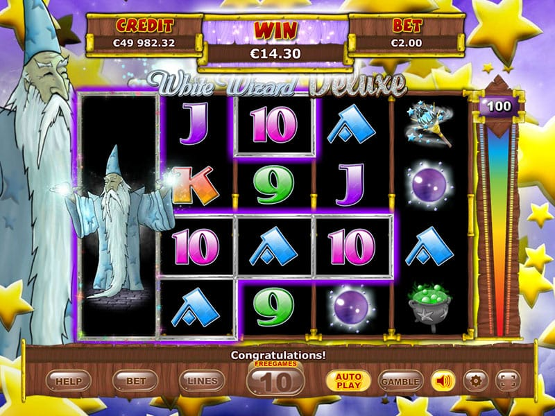 White Wizard Video Slot Gameplay