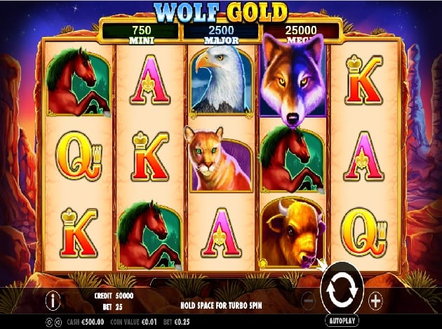 Wolf Gold Casino Slot Game Play